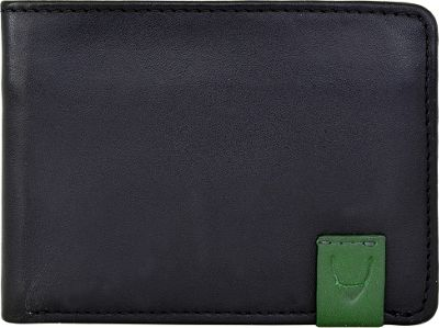 Hidesign Dylan Compact Thin Trifold Leather Wallet with Multiple Compartments and Coin Pocket Black - Hidesign Men's Wallets