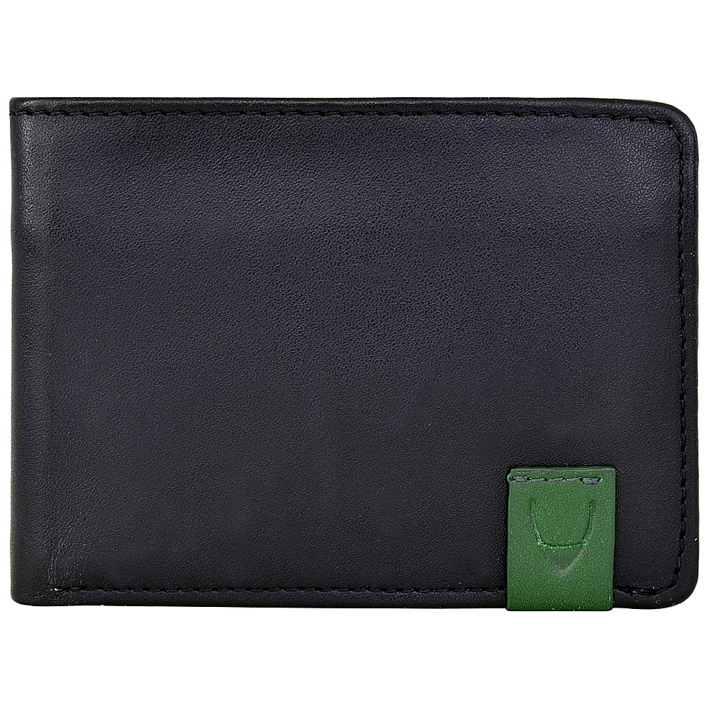 Hidesign Dylan Compact Thin Trifold Leather Wallet with Multiple Compartments and Coin Pocket Black Hidesign Men s Wallets