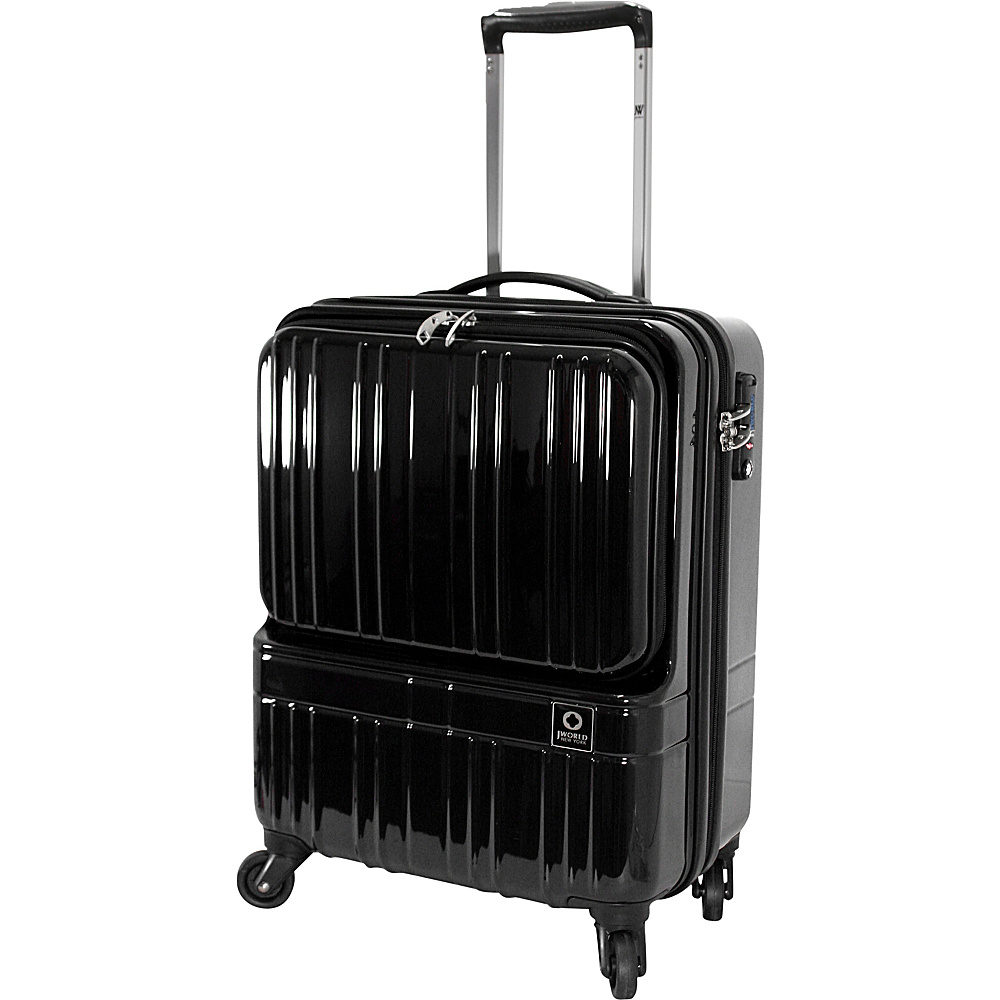 J World New York Cue Hardside Carry-On Luggage Black - J World New York Hardside Carry-On - Luggage, Hardside Carry-On
