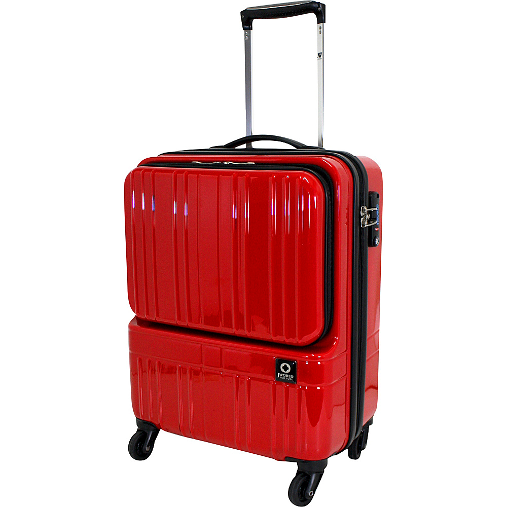 J World New York Cue Hardside Carry-On Luggage Red - J World New York Hardside Carry-On - Luggage, Hardside Carry-On