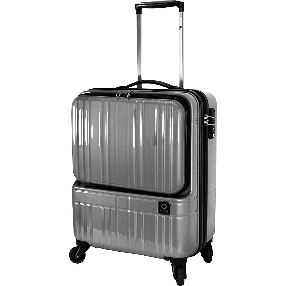 J World New York Cue Hardside Carry-On Luggage Silver - J World New York Hardside Carry-On - Luggage, Hardside Carry-On