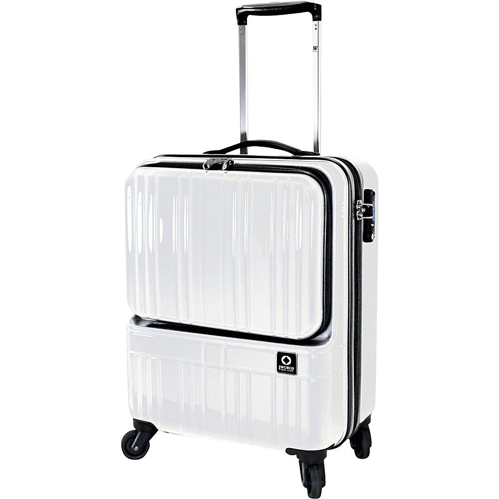 J World New York Cue Hardside Carry-On Luggage White - J World New York Hardside Carry-On - Luggage, Hardside Carry-On