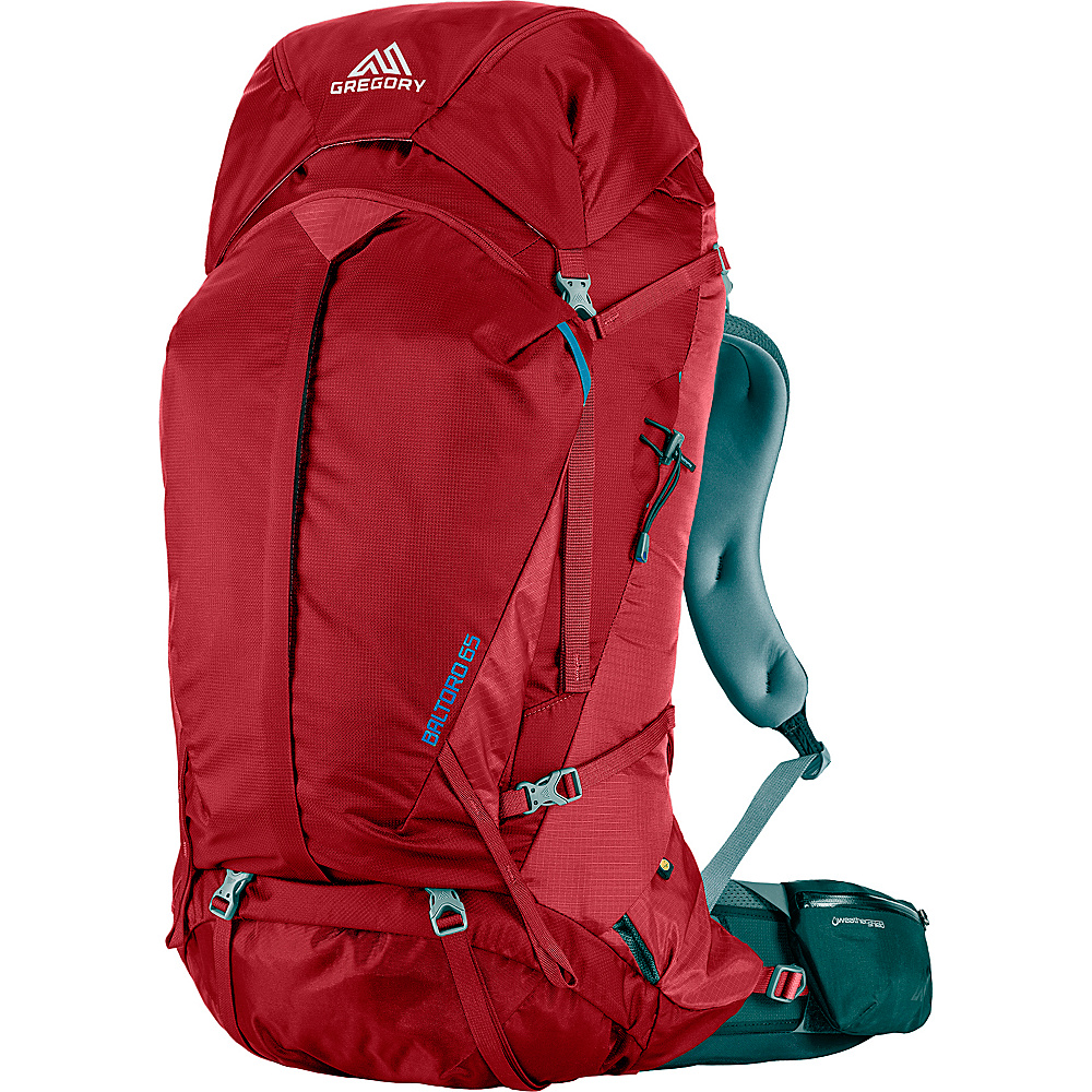 Gregory Men s Baltoro 65 Medium Pack Spark Red Gregory Day Hiking Backpacks