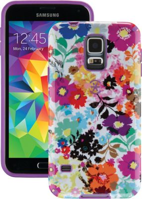 Speck Samsung Galaxy S5 Candyshell Inked Case Bold Blossoms White/Revolution Purple - Speck Electronic Cases