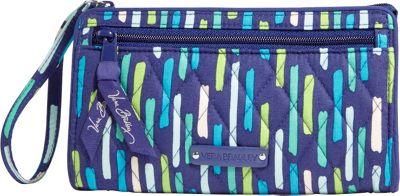 Vera Bradley Front Zip Wristlet Katalina Showers - Vera Bradley Fabric Handbags
