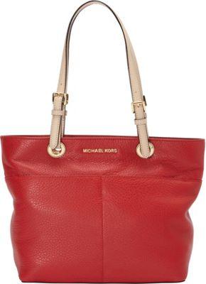 MICHAEL Michael Kors Bedford Top Zip Pocket Tote Chili - MICHAEL Michael Kors Designer Handbags