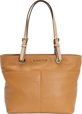 MICHAEL Michael Kors Bedford Top Zip Pocket Tote Peanut - MICHAEL Michael Kors Designer Handbags