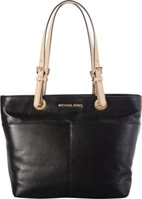 MICHAEL Michael Kors Bedford Top Zip Pocket Tote Black - MICHAEL Michael Kors Designer Handbags