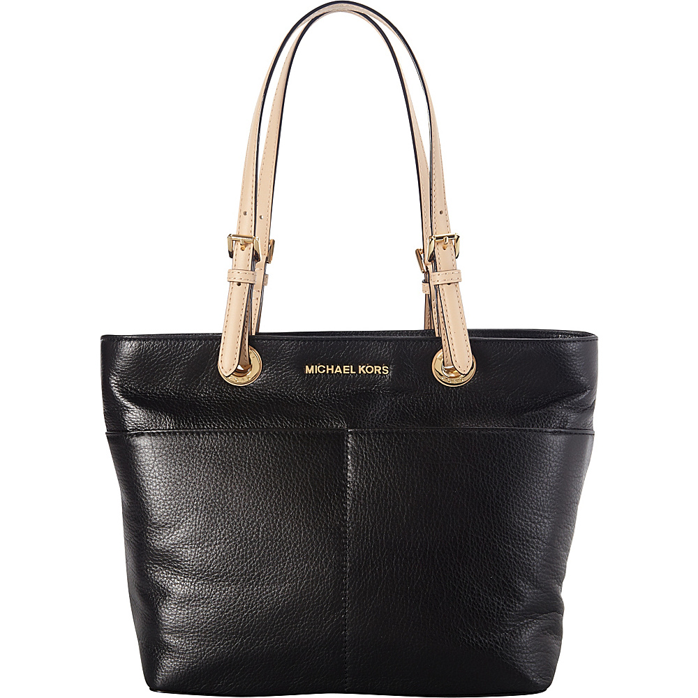 MICHAEL Michael Kors Bedford Top Zip Pocket Tote Black MICHAEL Michael Kors Designer Handbags