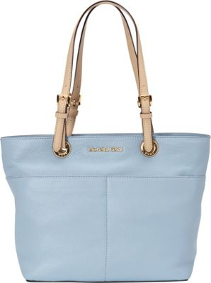 MICHAEL Michael Kors Bedford Top Zip Pocket Tote Pale Blue - MICHAEL Michael Kors Designer Handbags