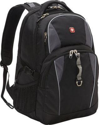 SwissGear Travel Gear 18.5 inch Laptop Backpack 6681 - EXCLUSIVE Black / Grey / Silver - SwissGear Travel Gear Business & Laptop Backpacks