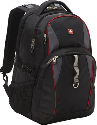 SwissGear Travel Gear 18.5 inch Laptop Backpack 6681 - EXCLUSIVE Black / Grey / Red - SwissGear Travel Gear Business & Laptop Backpacks