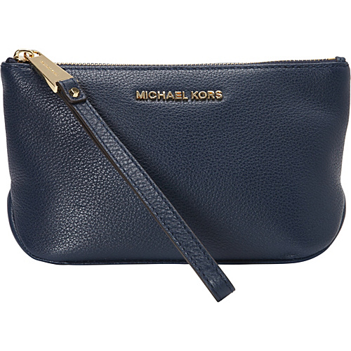 MICHAEL Michael Kors Rhea Zip Large Pouch Navy - MICHAEL Michael Kors Ladies Cosmetic Bags