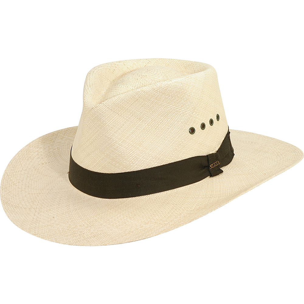 Scala Hats Panama Outback Hat Natural Medium Scala Hats Hats Gloves Scarves
