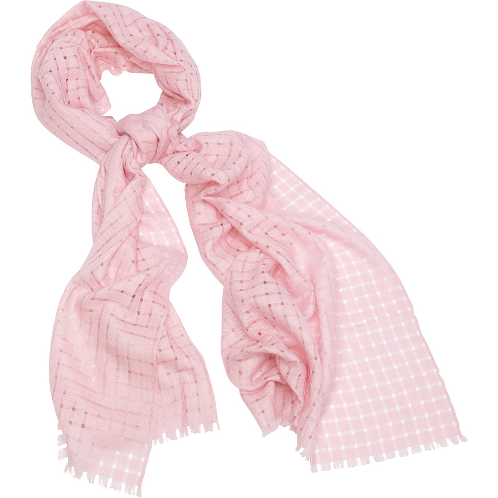 Kinross Cashmere Solid Check Scarf Shell - Kinross Cashmere Hats/Gloves/Scarves - Fashion Accessories, Hats/Gloves/Scarves