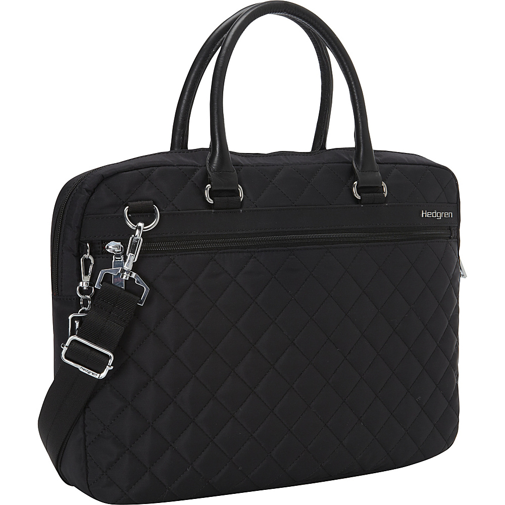 Hedgren Bella Attache Medium Black Hedgren Non Wheeled Business Cases