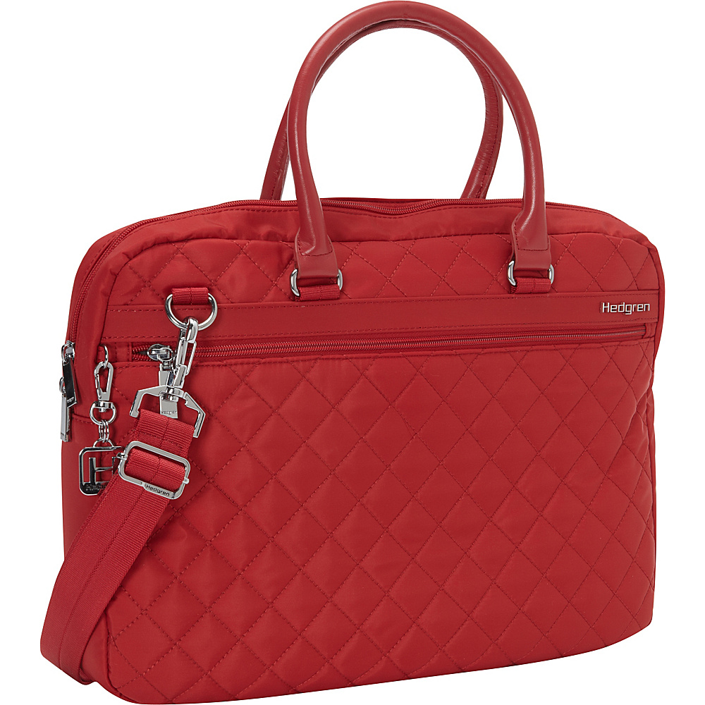 Hedgren Bella Attache Medium New Bull Red Hedgren Non Wheeled Business Cases