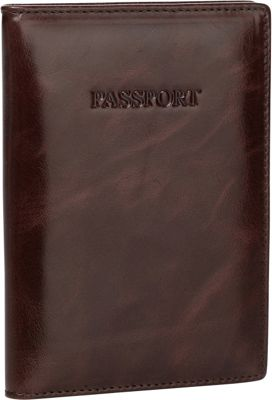 Vicenzo Leather Venice Distressed Leather Travel Passport Wallet Holder Brown - Vicenzo Leather Travel Wallets
