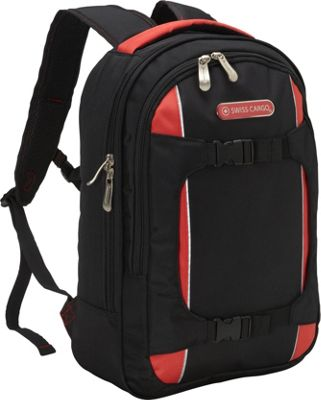 Swiss Cargo TruLite 17 inch Backpack Black Red - Swiss Cargo Business & Laptop Backpacks