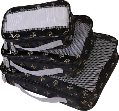 American Flyer American Flyer Fleur de Lis 3 Piece Packing Set Black - American Flyer Travel Organizers