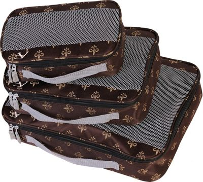 American Flyer Fleur de Lis 3 Piece Packing Set Brown - American Flyer Travel Organizers