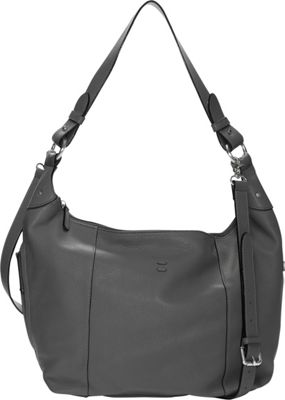 Ellington Handbags Alex Hobo Crossbody Grey - Ellington Handbags Leather Handbags