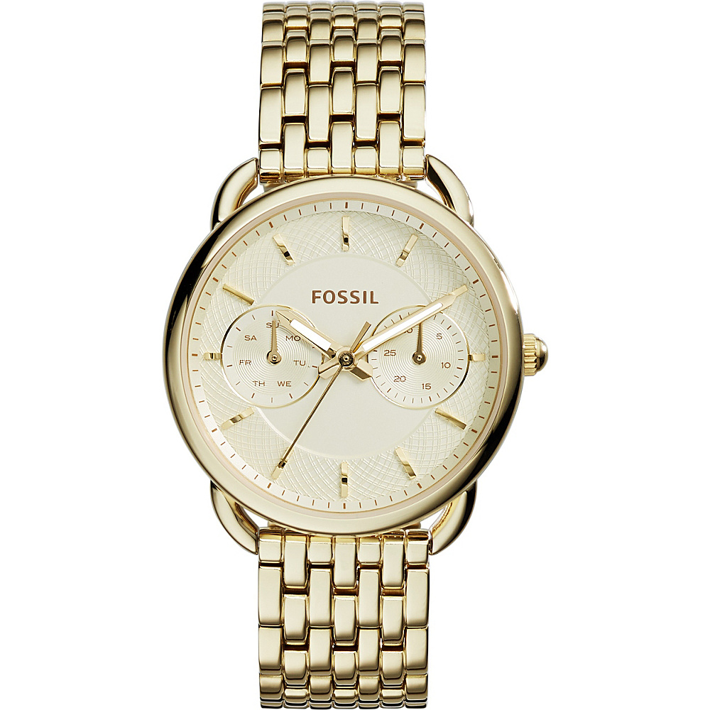 Fossil Tailor Multifunction Stainless Steel Watch Gold - Fossil Watches - Fashion Accessories, Watches