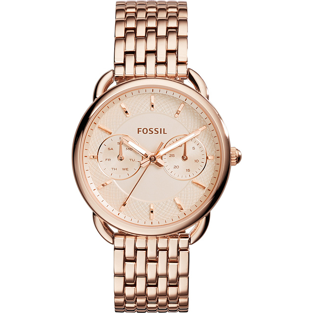 Fossil Tailor Multifunction Stainless Steel Watch Rose Gold - Fossil Watches - Fashion Accessories, Watches