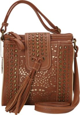 Image of American West - Mesa Organized Crossbody (Tan/Gold) Cross Body Handbags