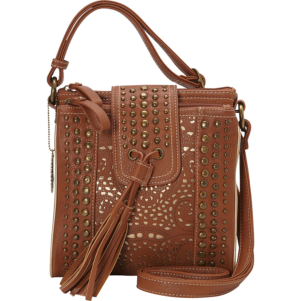 Bandana Mesa Collection Organized Crossbody TAN GOLD Bandana Manmade Handbags
