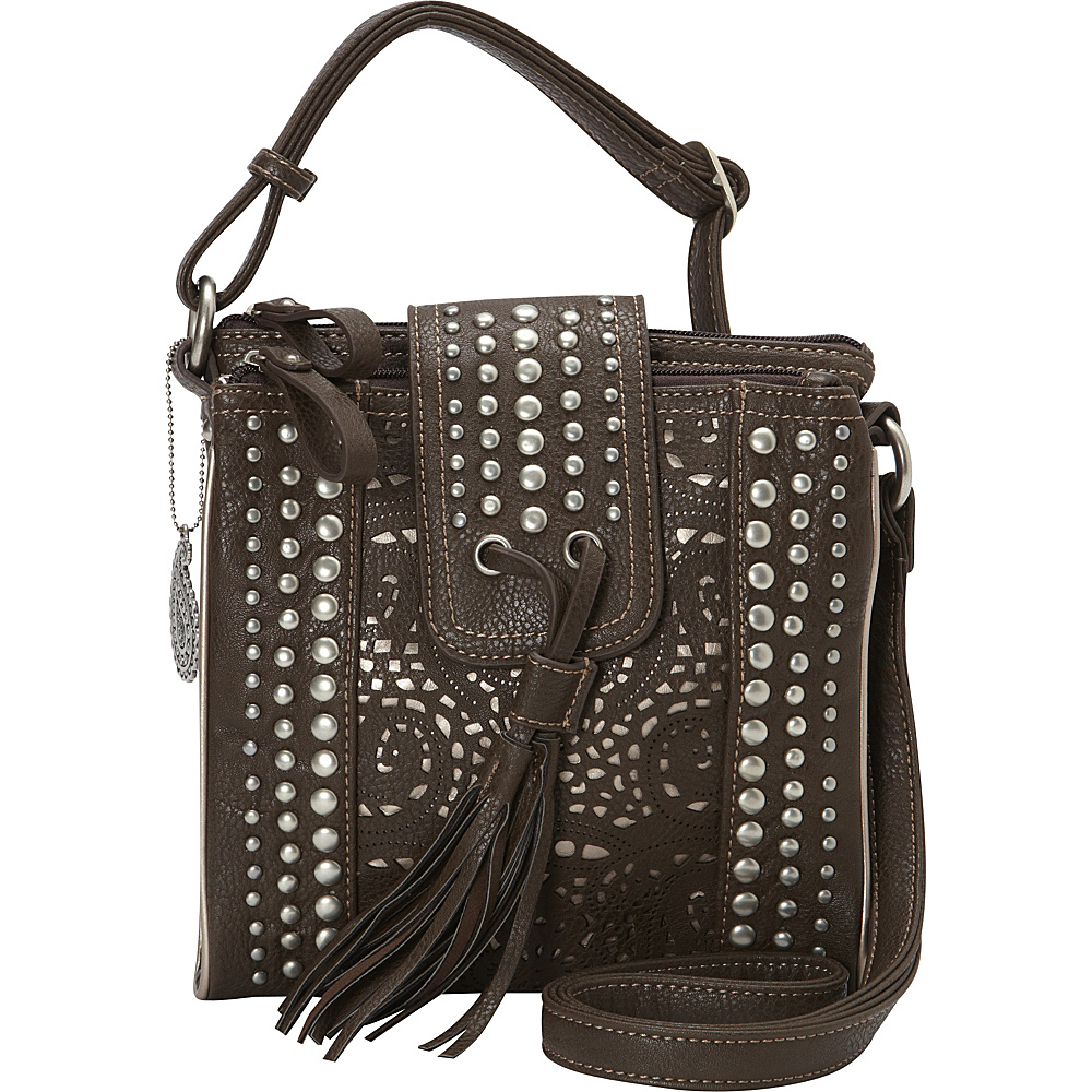 Bandana Mesa Collection Organized Crossbody CHOCOLATE METALLIC Bandana Manmade Handbags