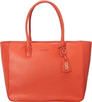 Cole Haan Isabella Tote Coral Flame - Cole Haan Designer Handbags
