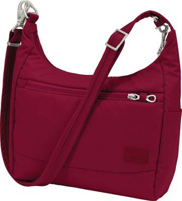 Pacsafe Citysafe CS100 Anti-Theft Crossbody Cranberry - Pacsafe Fabric Handbags