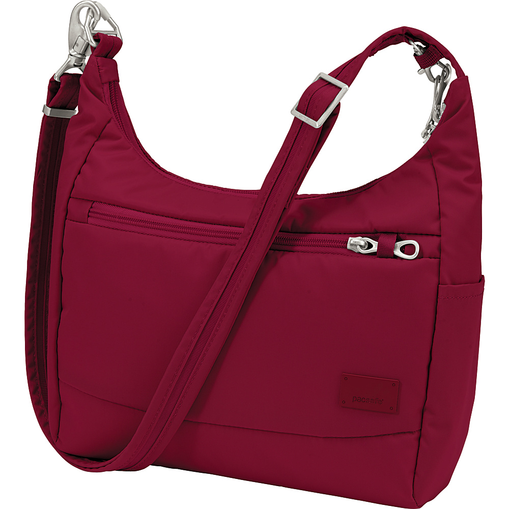 Pacsafe Citysafe CS100 Cranberry Pacsafe Fabric Handbags