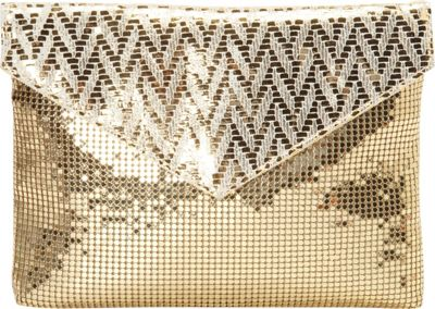 Whiting and Davis Weave Clutch Gold - Whiting and Davis Evening Bags