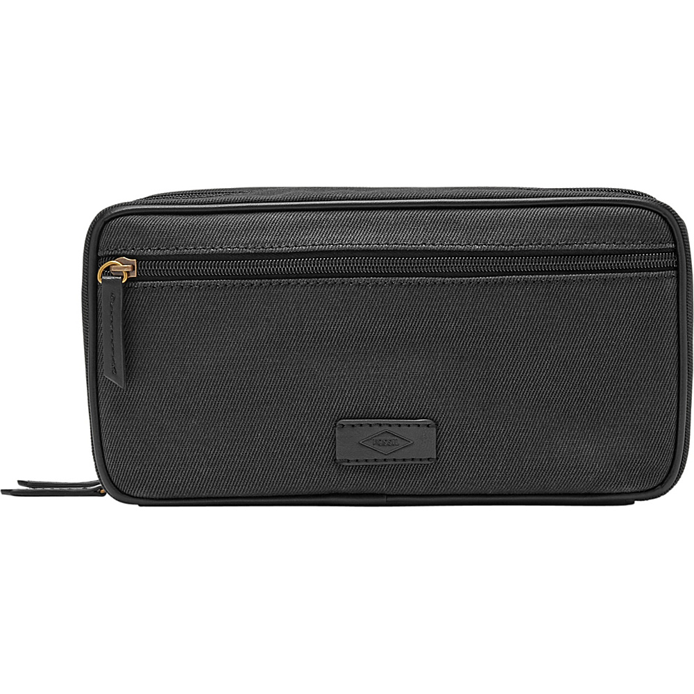 Fossil Double Zip Shave Kit Black - Fossil Toiletry Kits - Travel Accessories, Toiletry Kits
