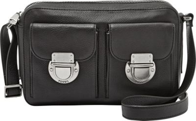 Fossil Riley Top Zip Black - Fossil Leather Handbags