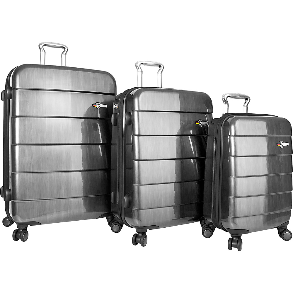Heys America Cronos ELITE 3pc Luggage Set Silver Heys America Luggage Sets