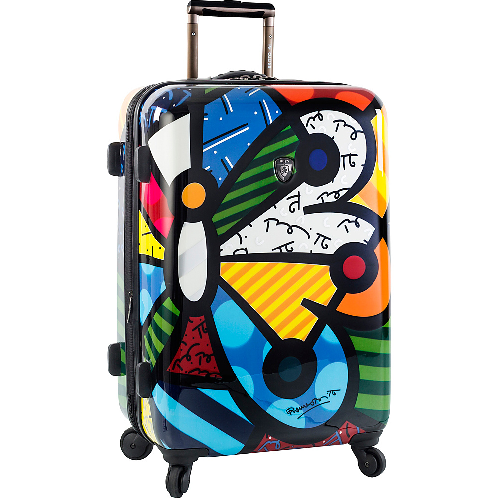 Heys America Britto Butterfly 26 Upright Luggage Multi Britto Butterfly Heys America Hardside Checked