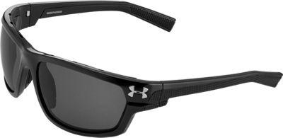 Under Armour Eyewear Hook'd Storm Sunglasses Satin Black /Gray Storm ANSI Polarized - Under Armour Eyewear Sunglasses