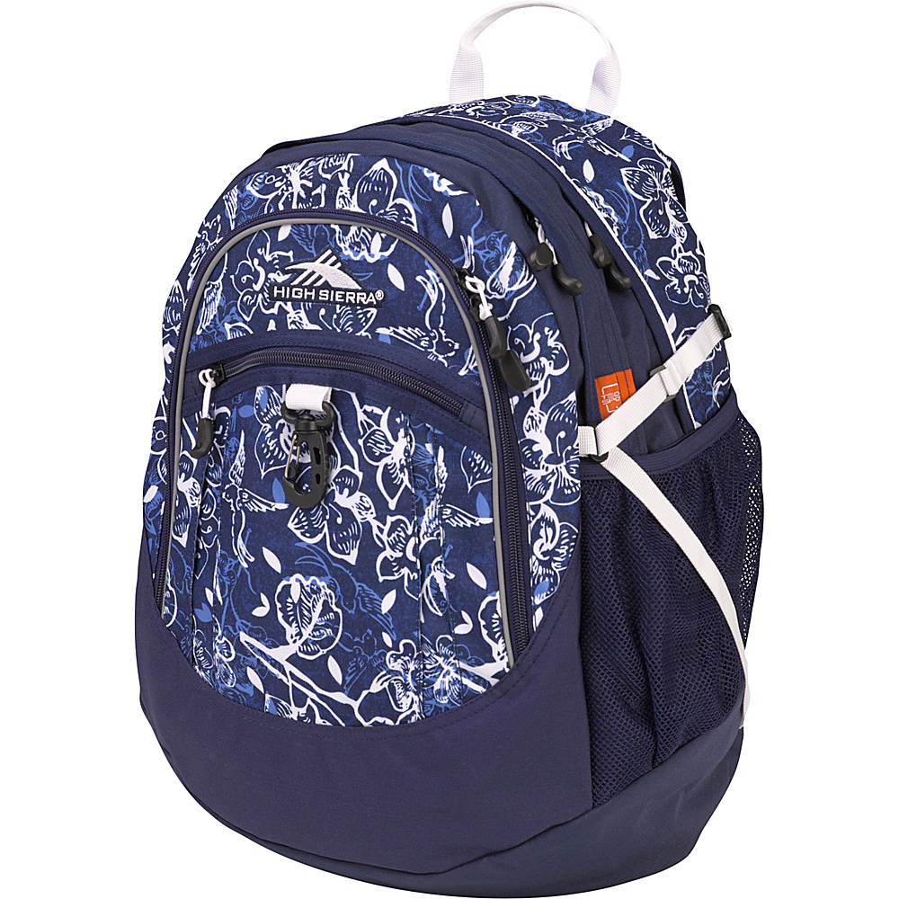 High Sierra Fat Boy Backpack Enchanted/True Navy/White - High Sierra Everyday Backpacks