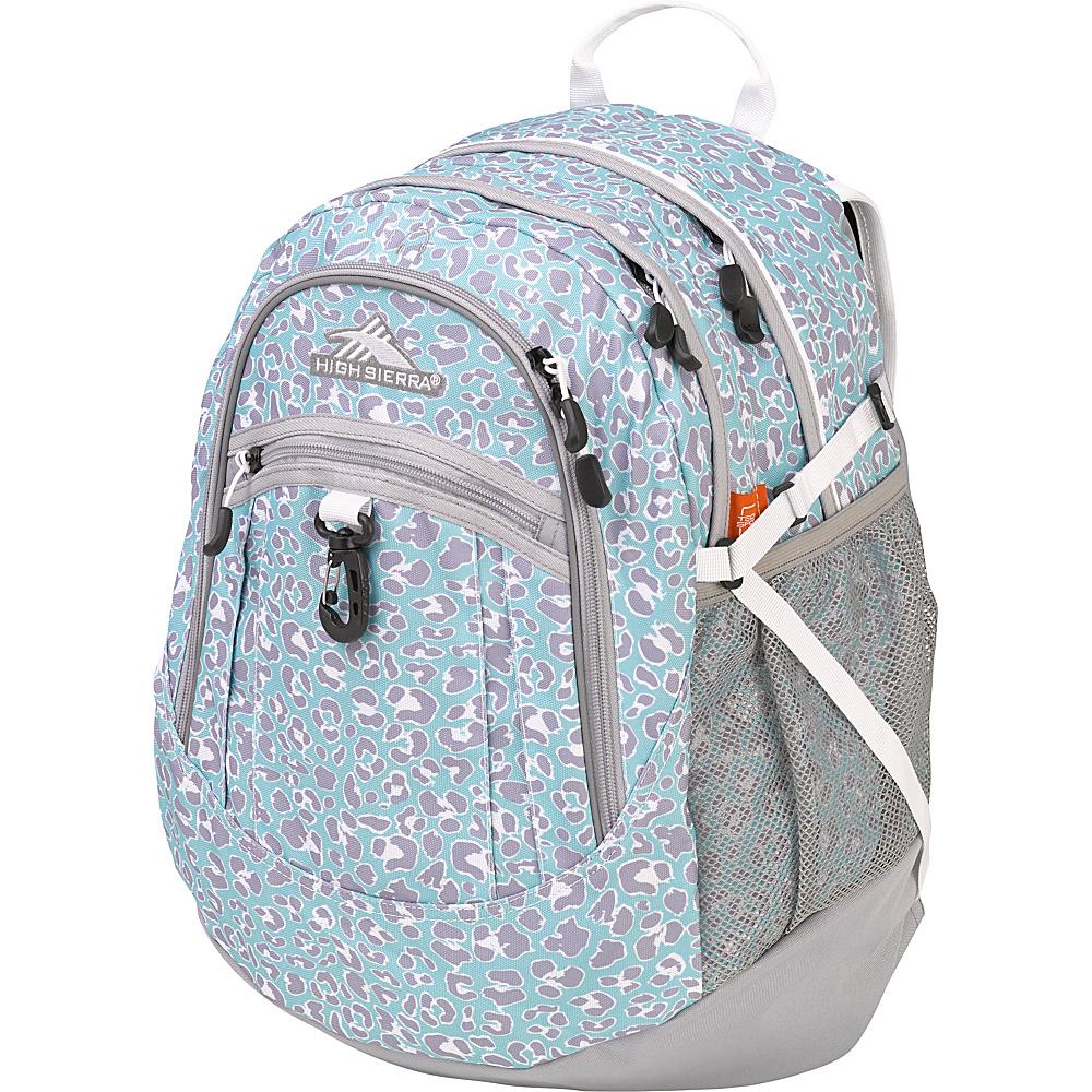 High Sierra Fat Boy Backpack Mint Leopard/Ash/White - High Sierra Everyday Backpacks
