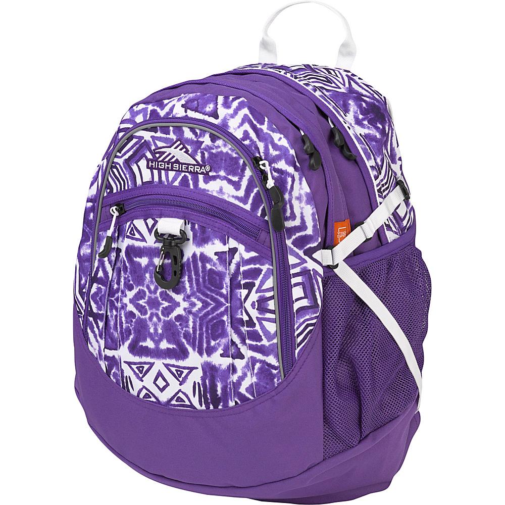 High Sierra Fat Boy Backpack Shibori/Deep Purple/White - High Sierra Everyday Backpacks