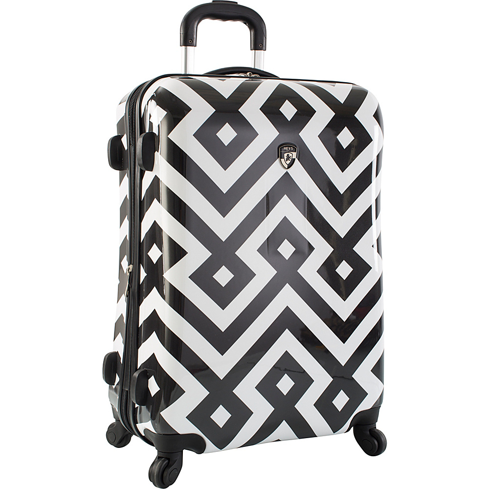 Heys America Deco Fashion 26 Spinner Luggage Black White Deco Heys America Hardside Checked