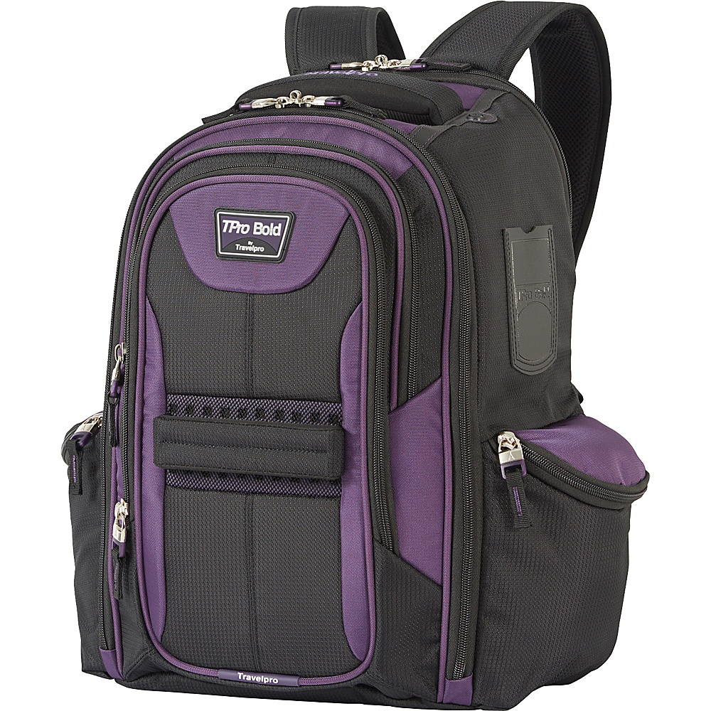 Travelpro T Pro Bold 2.0 Computer Backpack Black amp; Purple Travelpro Business Laptop Backpacks