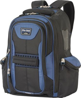 Travelpro T-Pro Bold 2.0 Computer Backpack Black & Blue - Travelpro Business & Laptop Backpacks