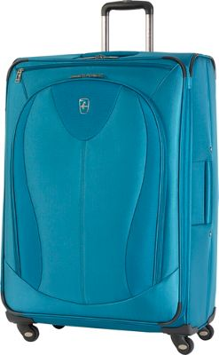 Atlantic Ultra Lite 3 29 inch Expandable Spinner Turquoise - Atlantic Softside Checked