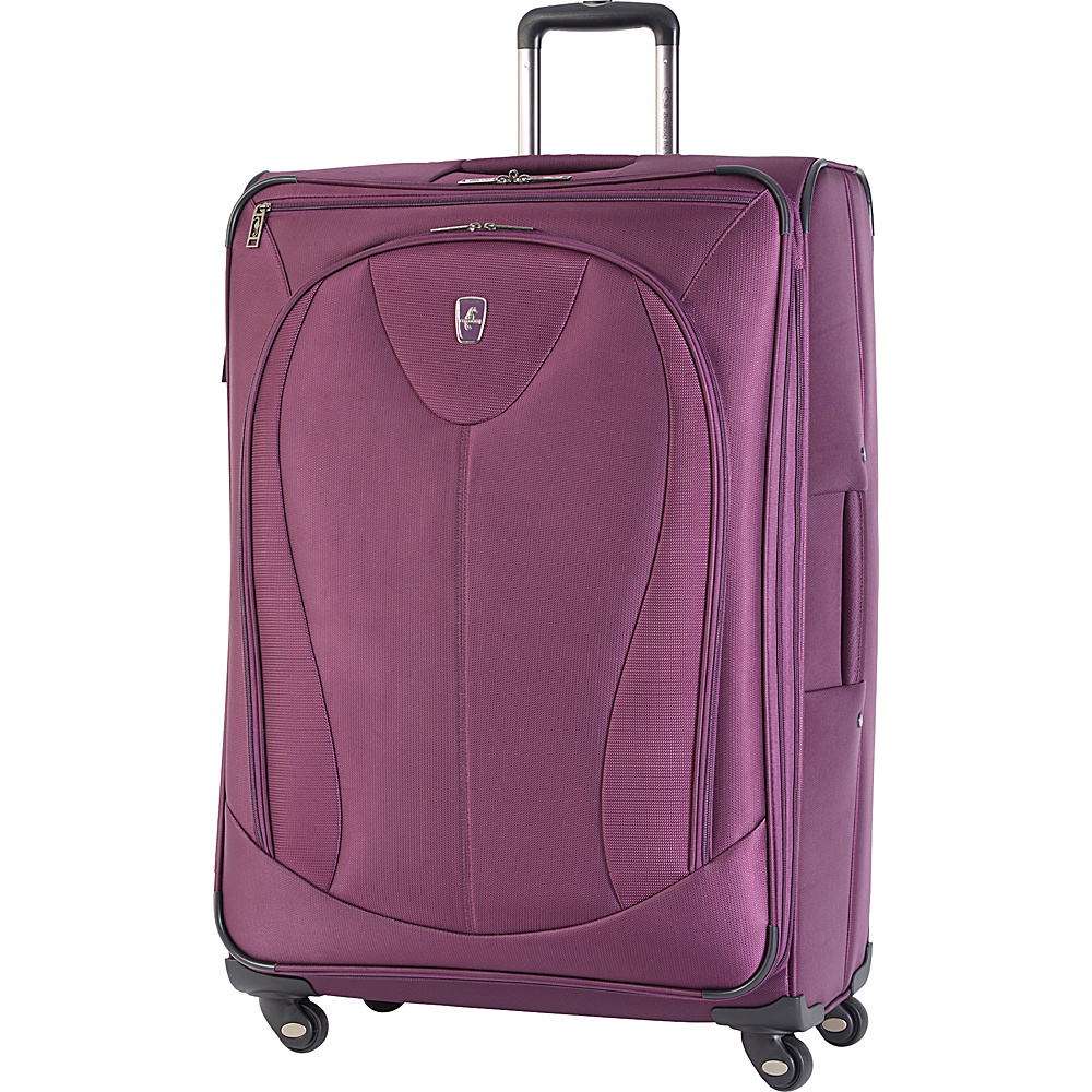 "Atlantic Ultra Lite 3 29"" Expandable Spinner Purple - Atlantic Softside Checked"