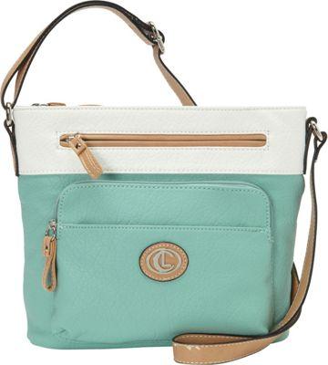 Aurielle-Carryland Horizon 2 Tone Crossbody Mint/White - Aurielle-Carryland Manmade Handbags