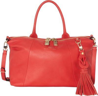 Trina Turk Saratoga Small Satchel Red - Trina Turk Designer Handbags